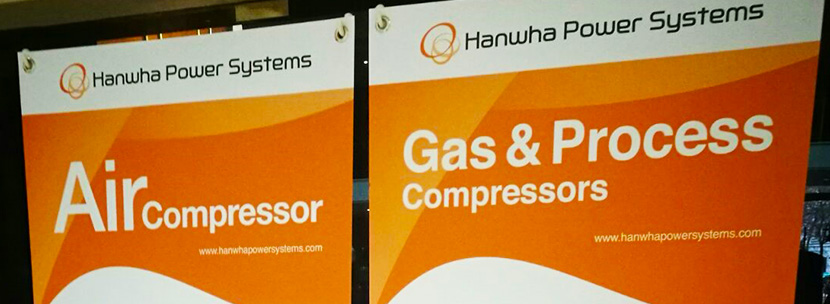 Hanwha Power Systems Conference Banners