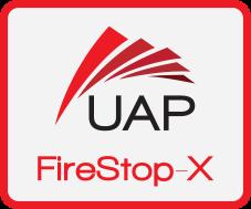 UAP FireStop-X Badge